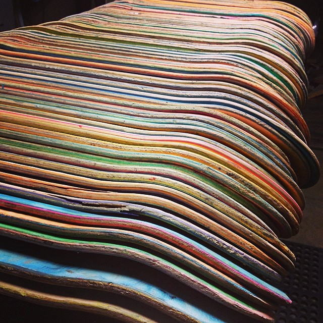 Mourning wood...These boards will ride again. #recycledskateboards #irisskateboards