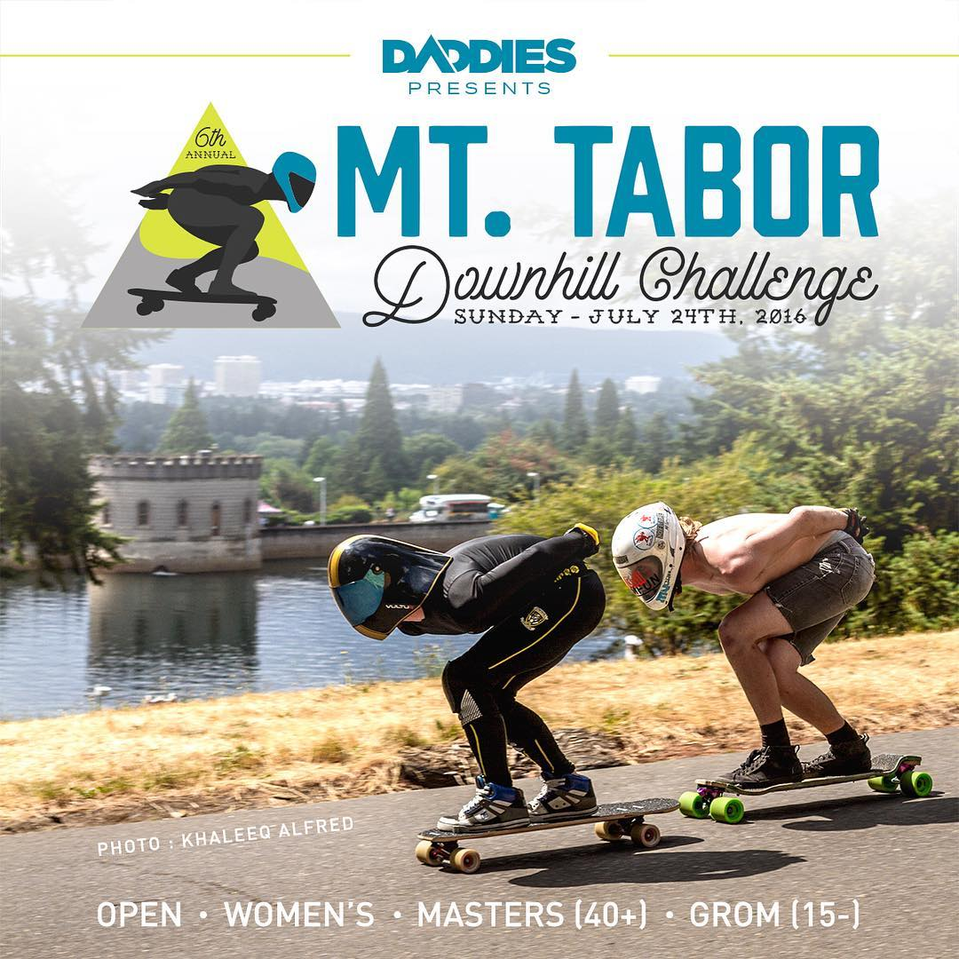 The Mt. Tabor Downhill Challenge presented by @daddiesboardshop is going down this weekend! Make the trip! Have a damn good time! Click the link in our bio for more information!  #mttaborchallenge #downhillskateboarding