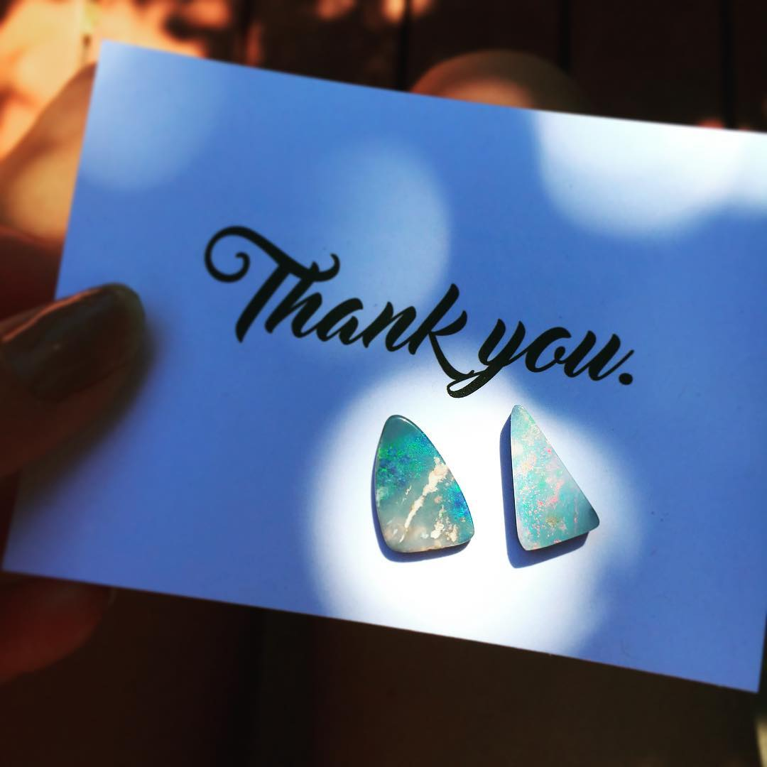 Special Opals for a special person! Waiting to hear back on the top pick.  Visit www.JuliaSzendrei.etsy.com and take a look at the CUSTOM OPALS section of the shop. Just linked up over 100 new Opals which are flying quick! #packaging #productshot...