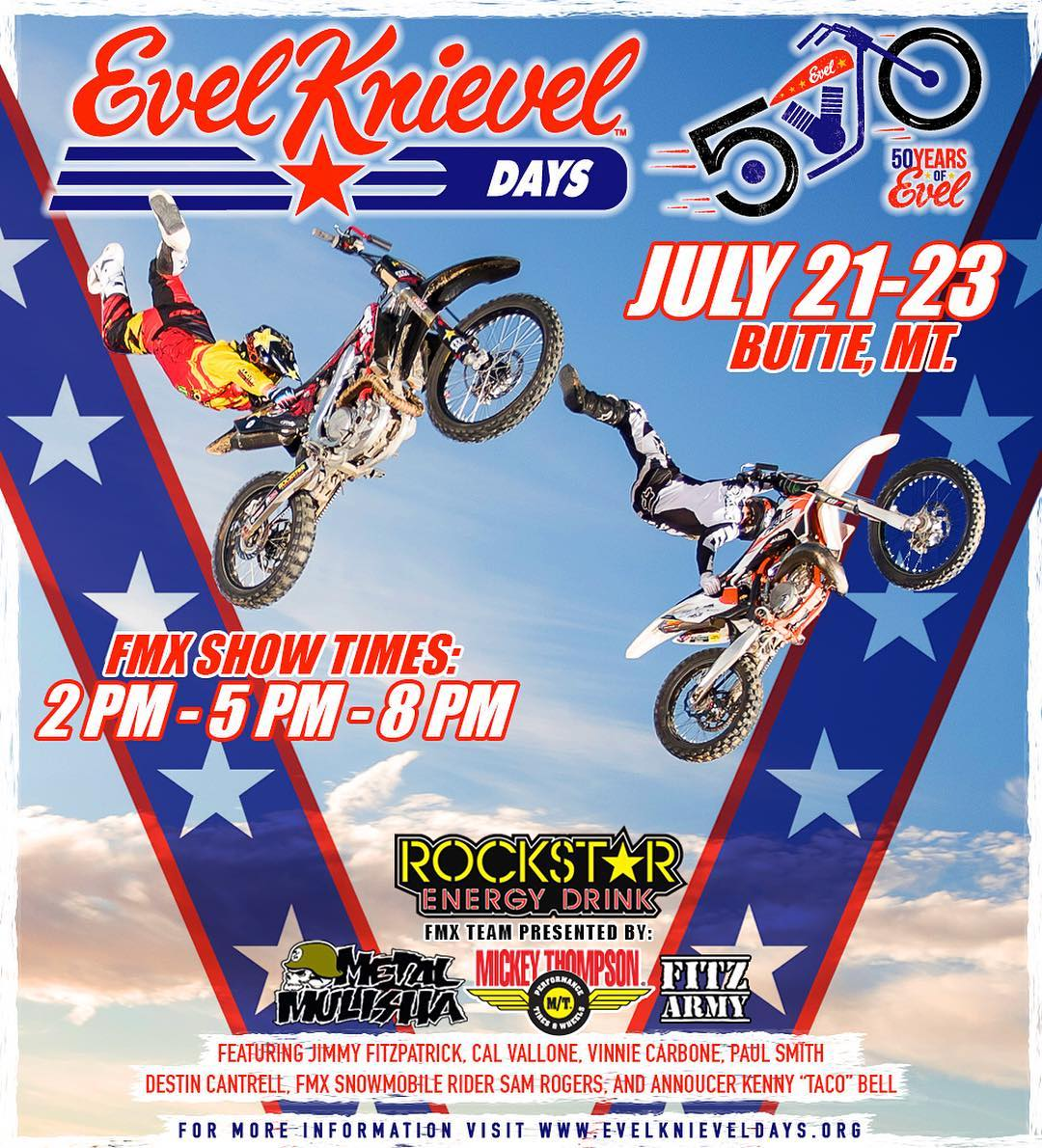 Who's going to @EvelKnievelDay ⁉️ The @FitzArmyFMX SQUAD will be there