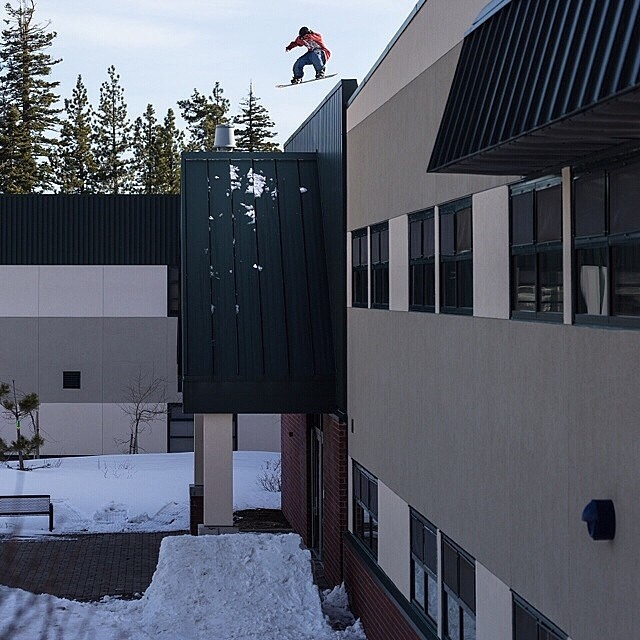 #TBT to when @nikocioffi dropped out of school. #RoofDrop in North #LakeTahoe . Regram