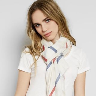 Sailor Stripe Scarf- shop our summer accessories on Threadsforthought.com! #accessories #summer #scarfs #hats