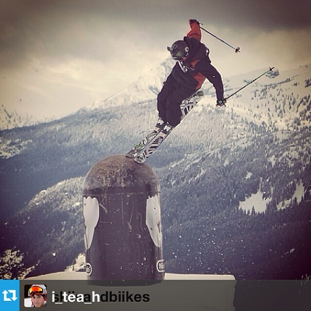 #Repost from @i_tea_h with a killer shot from the #AFP world championships. Stoked to have him in the #freesoul10's this season! Nice work. --- #tbt to #AFP worldchamps from @skiisandbiikes.  This tap is probably my favorite feature I have ever skied...
