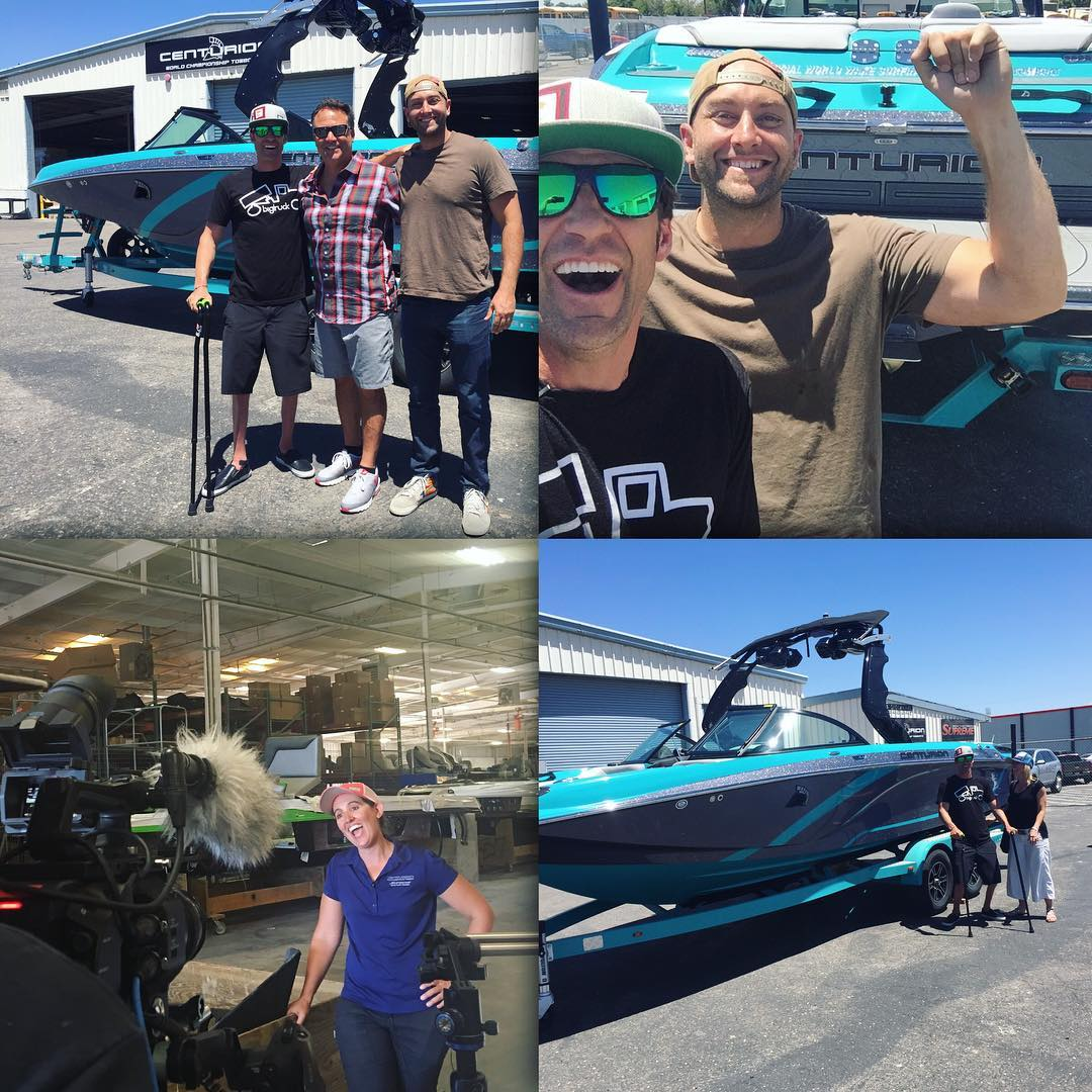 "Two days ago at the @centurionboats factory was a lifelong #DREAMCOMETRUE!! @bigtruckbrand has been one of the most supportive sponsors an athlete could ever ask for, and when I joined #teamcenturionboats in 2015, the brand reached out to say, ""we want..."
