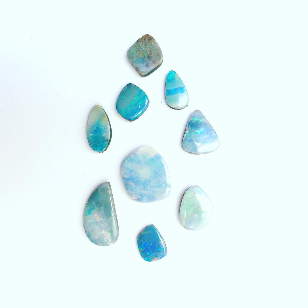 Beautiful Blue hues soaring from these Australian Boulder Opals. Catch a glimpse in the shop!  #laketahoe #tahoe #bigblue #blue  #opals #oneofakind #juliaszendrei #ofakind #opals