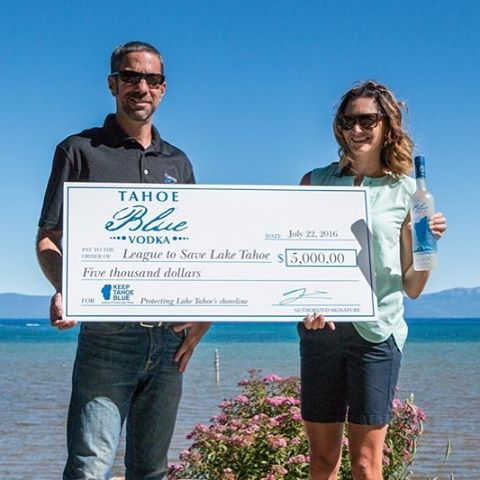 Thanks to @tahoebluevodka for donating $5,000 to support Tahoe beach cleanups, and for helping us raising an additional $5k! Read more: keeptahoeblue.org/tahoe-blue-vodka