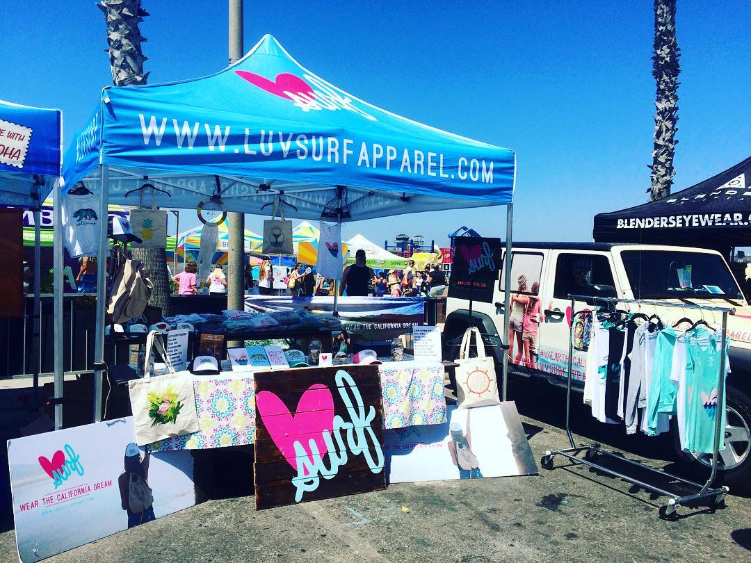 Come check out the Luv Surf tent at Supergirl Pro!! #luvsurf #surfergirl #wearthecalidream #girlssurftoo#supergirlpro2016