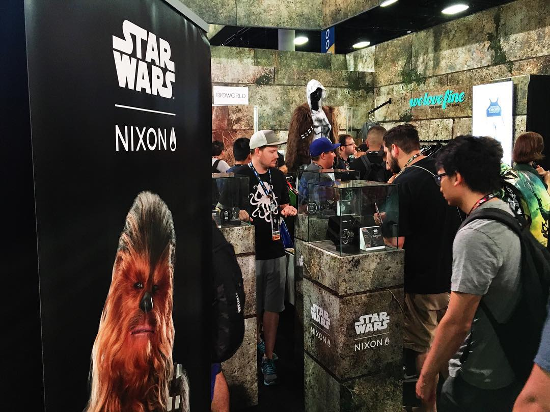 Welcome to Comic-Con. We'll be at #SDCC2016 all weekend. Come say hi and check out our #ComicCon #StarWars | #Nixon exclusives.
