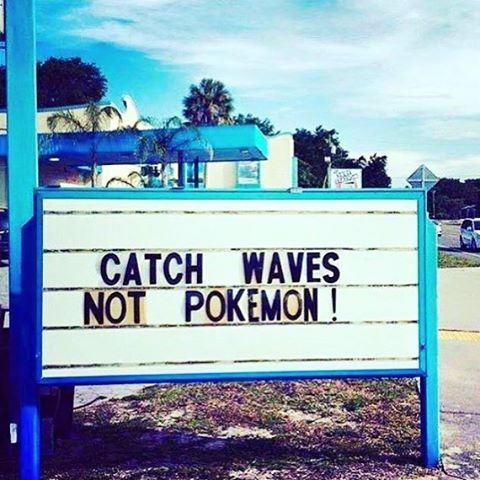 #Priorities, priorities... Much #LUV to the #pokemongo infatuated out there looking for an #augmented reality -- but we think playing in the #ocean augments normal reality like nothing else !