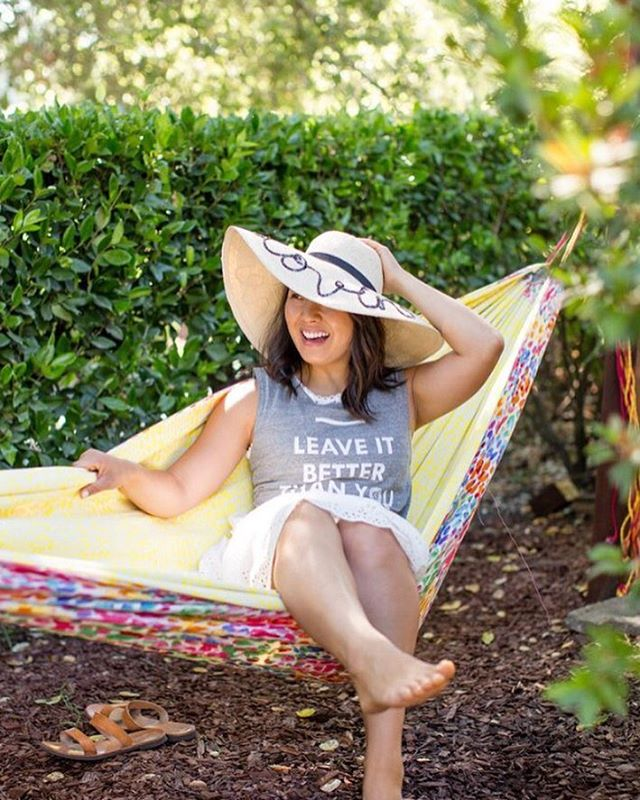 -> hanging w @britandco <- we hope you had an amazing #nationalhammockday yesterday, up on her blog she shows you how to make a DIY hammock #hammoklife #parkchamps #summertime