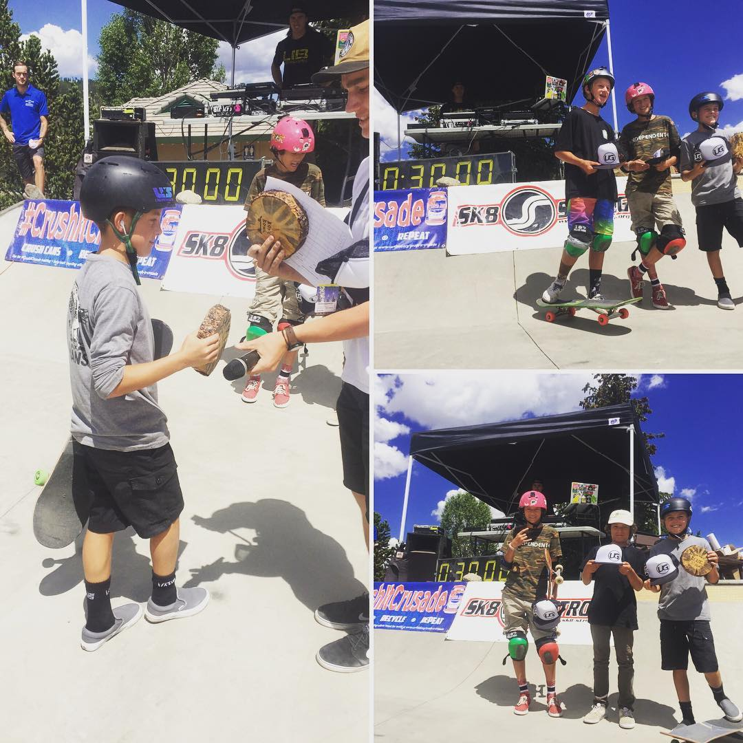 Congrats to #coloradoskateboards #team #shred #jakecanter taking #1stplace in junior divisions for both #street and #bowl at the #battleontheblue in #Breckenridge #Colorado today