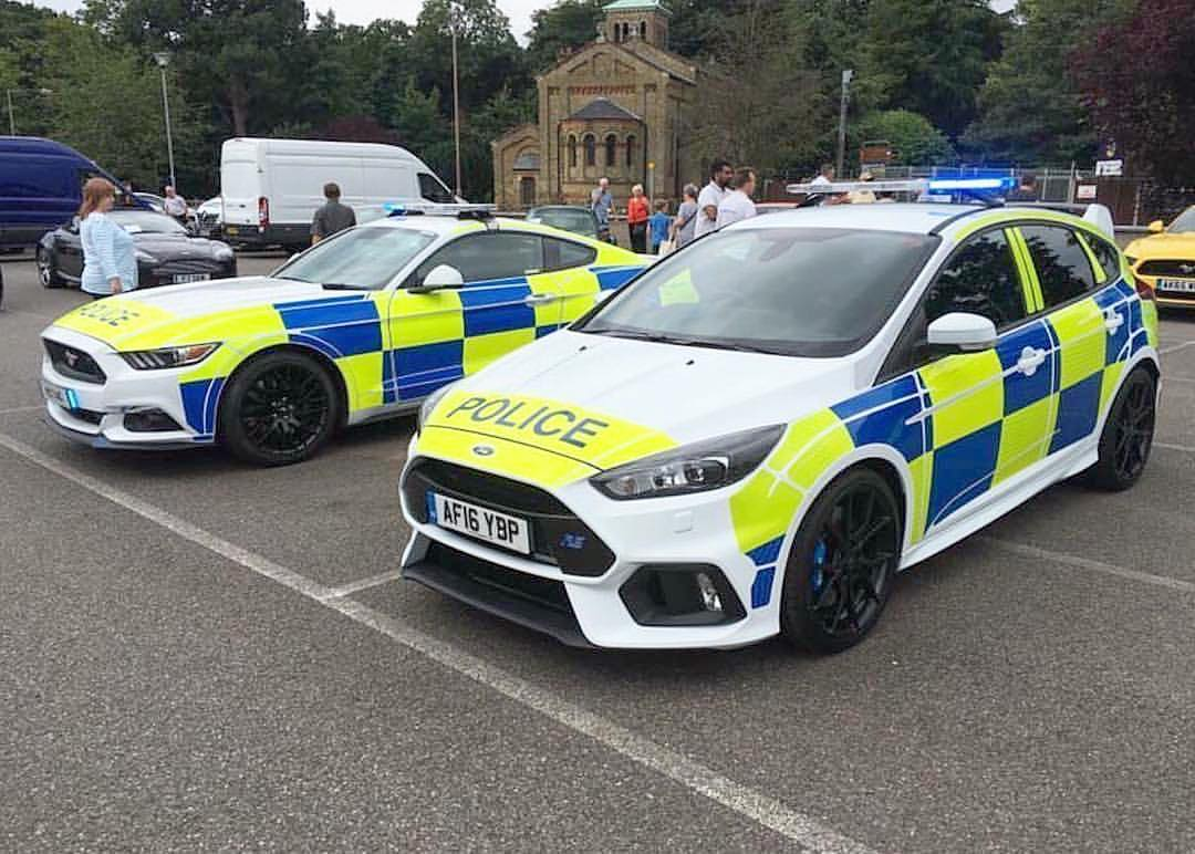 "Regram from @DerekDauncey (Hoonigan Racing Race Director): ""UK Police force beefing up there fleet of vehicles - The Ford Focus RS and the Ford Mustang. #cautiontheywillappearinyourrearviewmirrorveryquicky"""