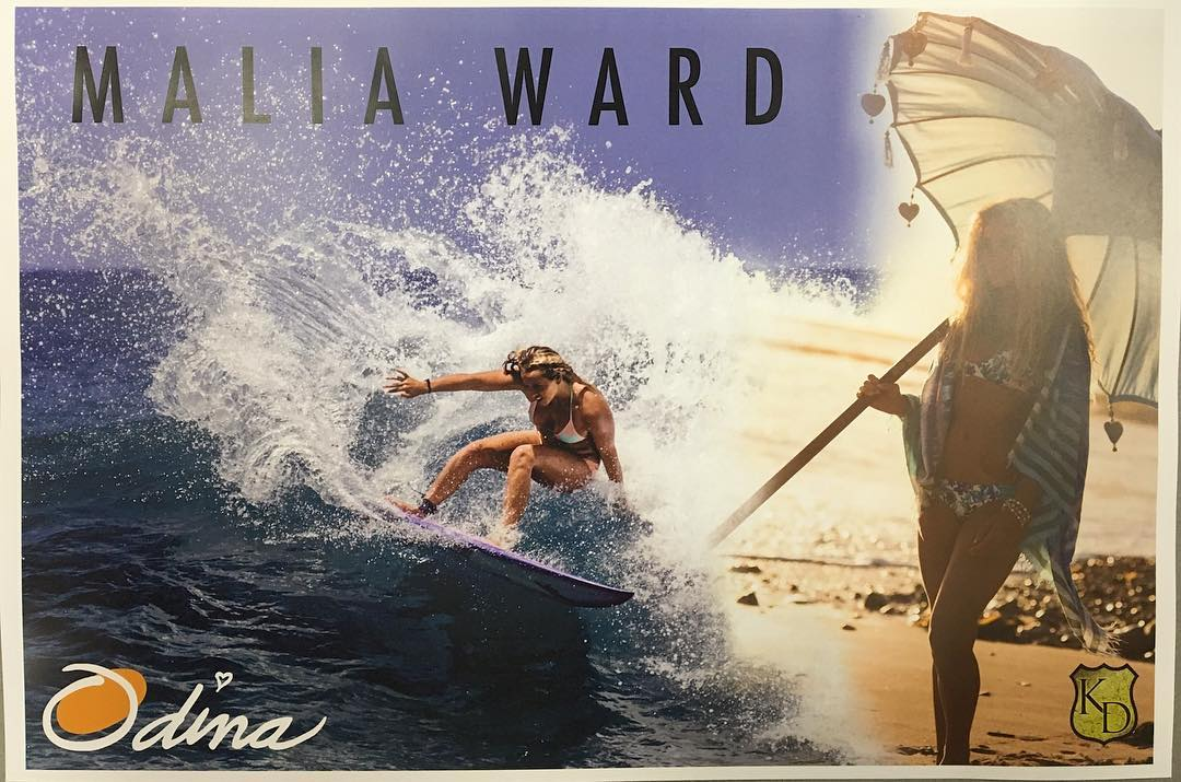 Come by today at the @supergirlpro for a 1pm Autograph signing with Malia Ward! @malia_ward @kdcustomjewelry @lovesuja @odinasurf Back Left Booth in the Featival Village!!