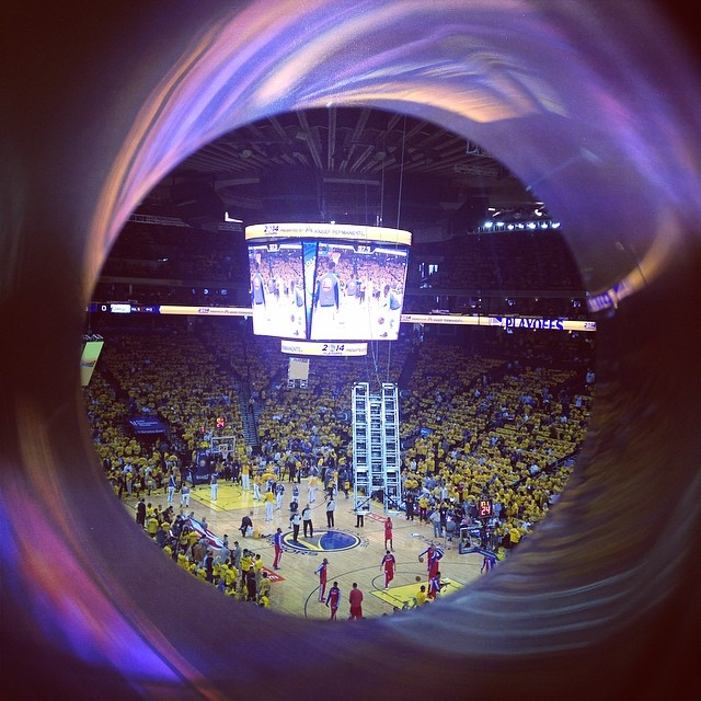 Anyone else here at the warriors game?! LETS GO WARRIORS. LOUD. PROUD. WARRIORS. #warriors #gsw #playoffs #suitelife #bayarea