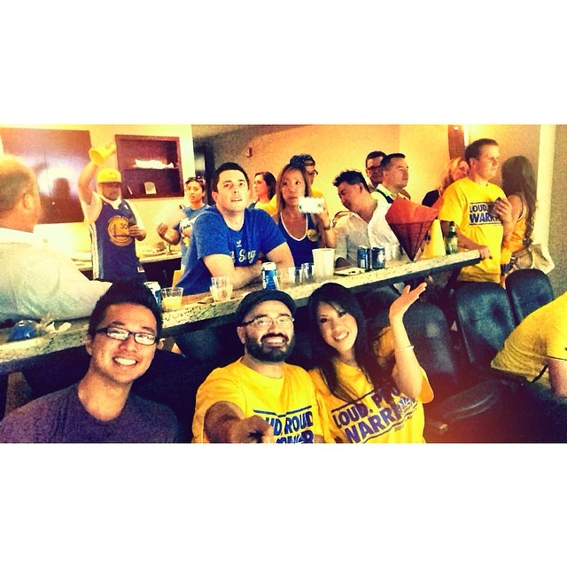 Warriors game! 4th quarter! #BEATLA #warriorsground #warriors #gsw #gohomeclippers
