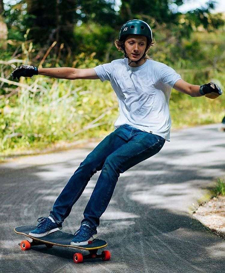 "Sweet snap of @nick_thayer1 on the Keystone 39"" captured by @samgalus  #dblongboards #dbkeystone #downhillskateboarding #longboard"