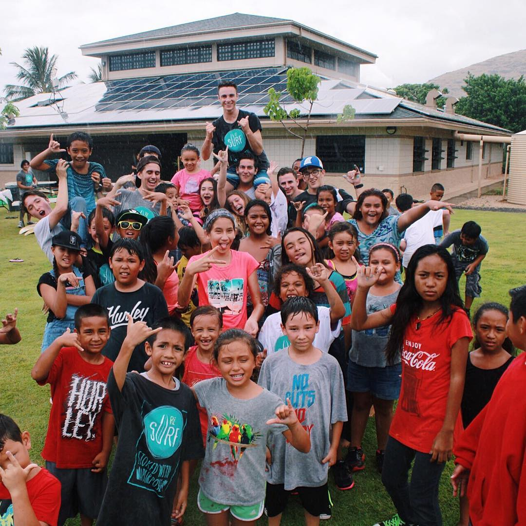 our ambassadors spending time with the kids from the Nanakuli Boys & Girls Club last month during our trip to the island of Oahu!
