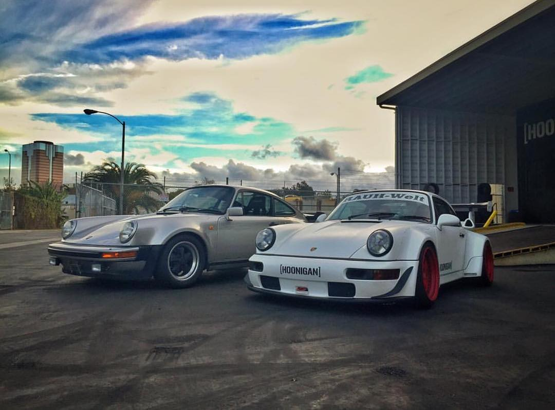 If you had to pick one... Stock euro spec 930 or slightly modded 964 turbo aka the #RWBxHoonigan? #donutgarage