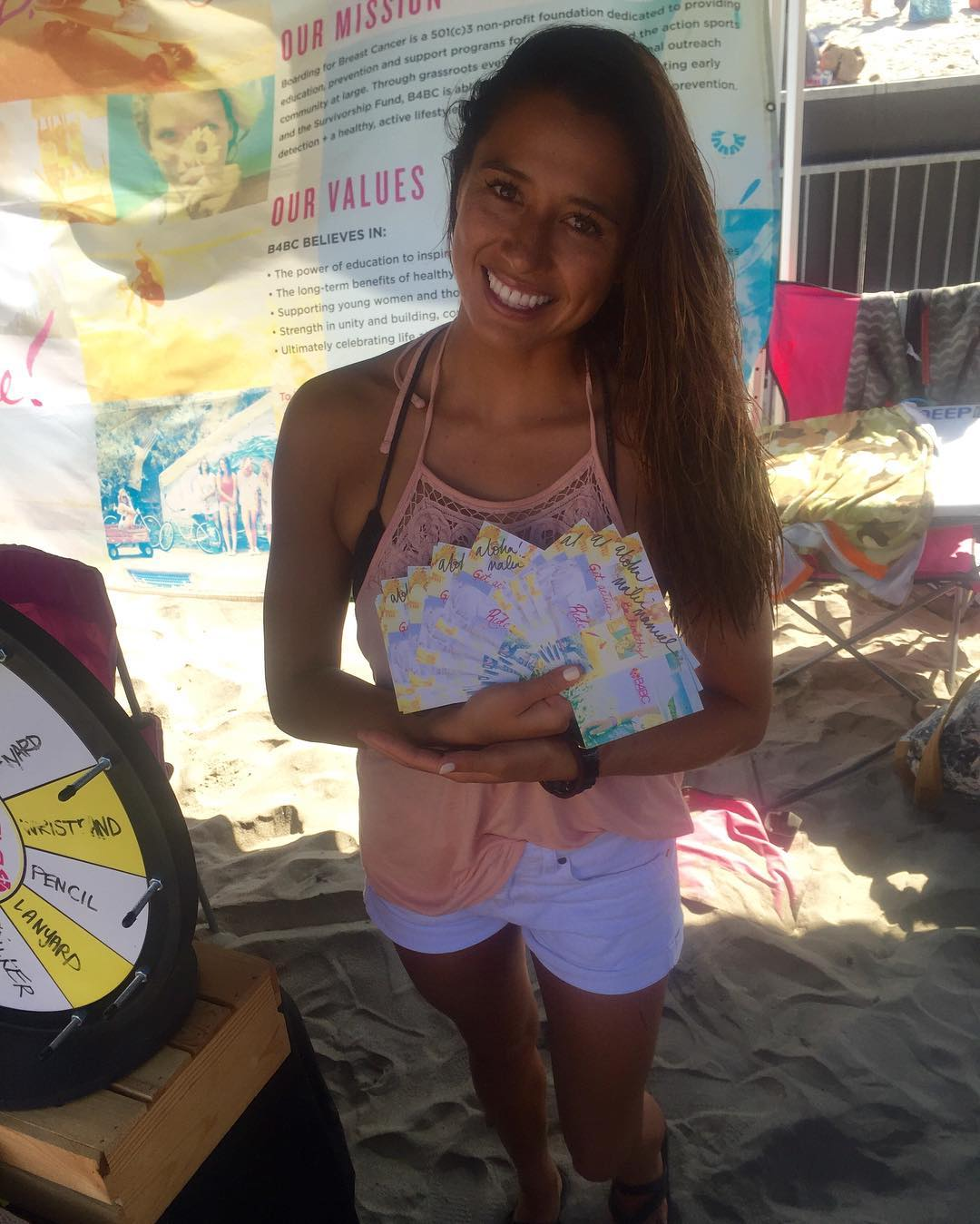 Our girl @maliamanuel came by yesterday and signed some goodies! Swing by the B4BC booth today and be one of the lucky few to pick up an autograph. Don't forget to root on Malia as she continues in the final day of the @supergirlpro in Oceanside!
