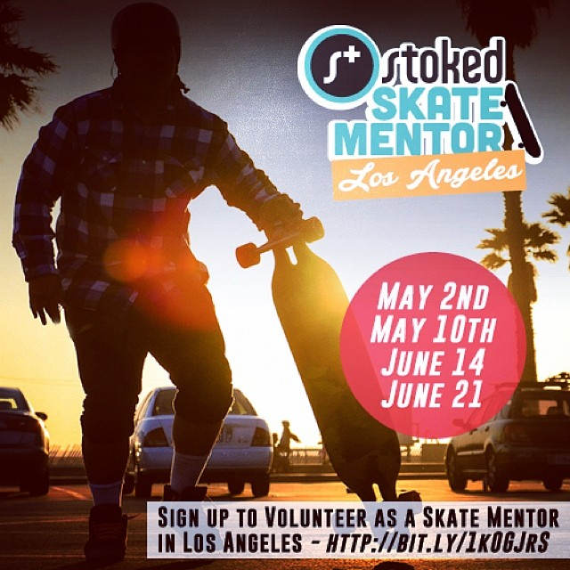Left Coast! Were looking for some experienced skateboarders who want to share their passion & enthusiasm for skating with STOKED Los Angeles! Sign up to volunteer at 'http://bit.ly/1k0GJrS' #volunteer #skateboard #beawesome #stokedtoskate #losangeles
