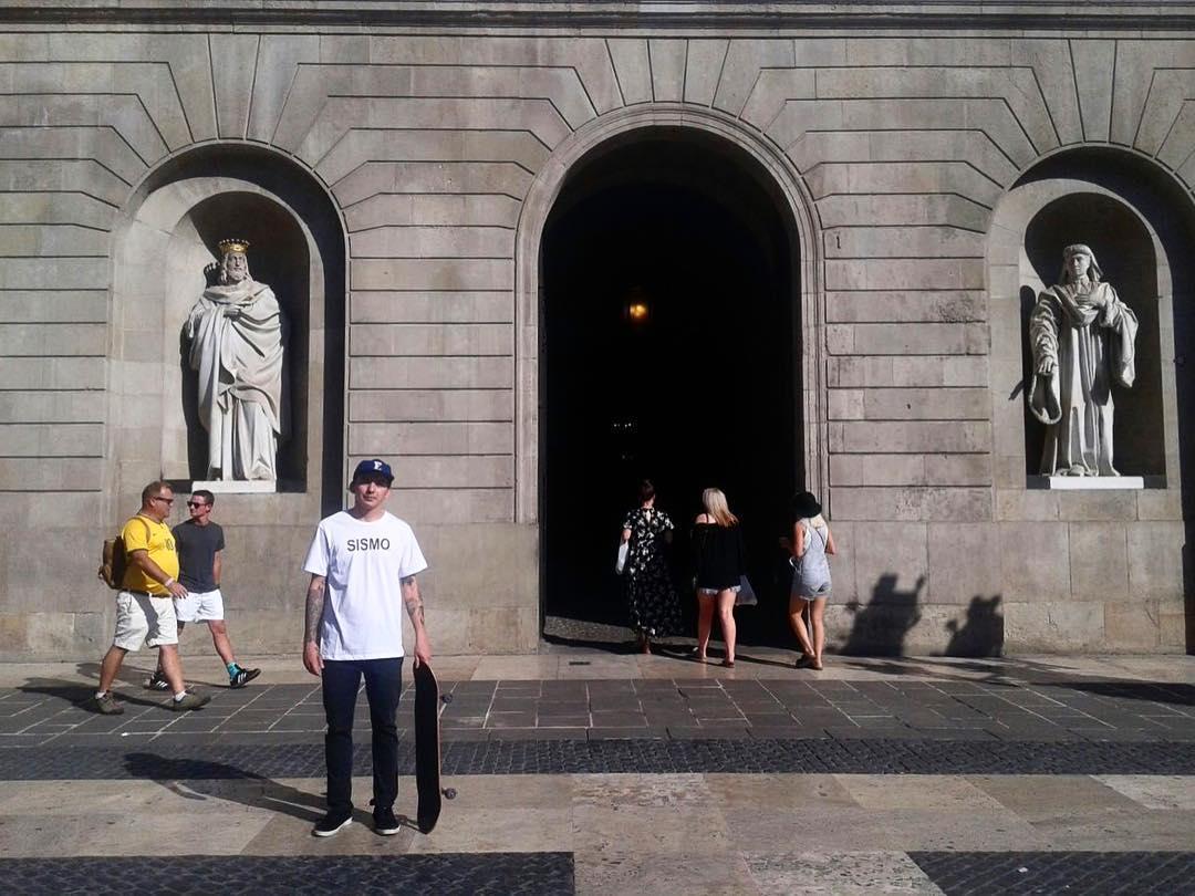 @miguecat ya en Barcelona listo para patinar todo el verano Europeo