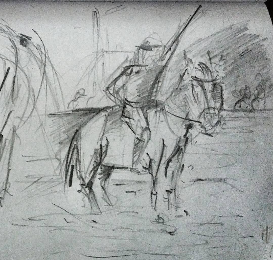 Dibujito de hoy. #draw #dibujo #grafito #instadraw #instamoment #horse #caballo #escuadronazul #policiafederal #larural #domingo