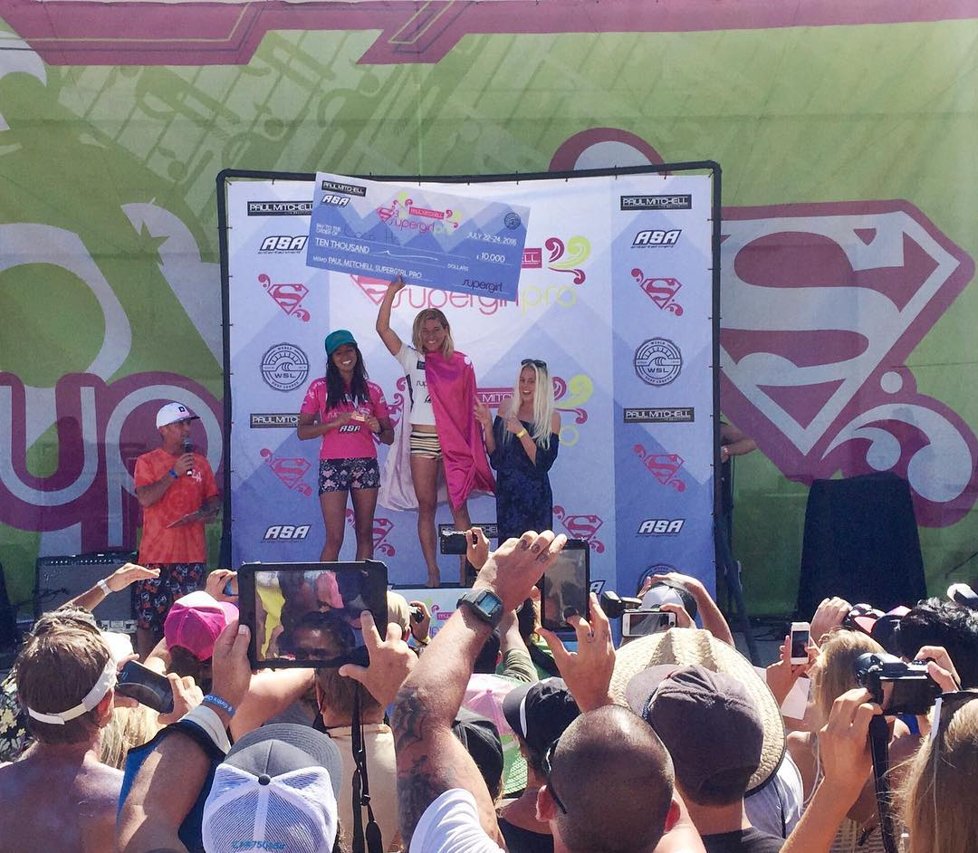 Congrats to our girl @maliamanuel on her 2nd place finish today at the @supergirlpro & to @xococoho on her 3rd Supergirl title! What an amazing weekend of surfing & female empowerment! Thanks to everyone who came out