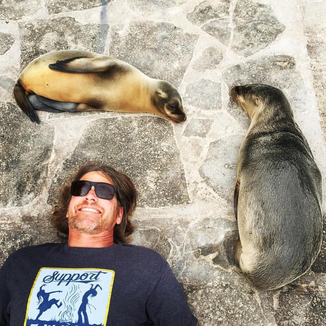 Our #SendItSunday goes to our President and Co-Founder, @gteeeee! He sent it all the way to the #Galapagos Islands to #SupportWildLife and we love that! Be sure to follow his adventures and give the captain of this wild ride a follow! - #VonZipper