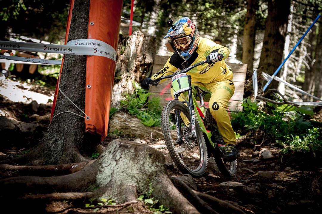 Yeooow! Shout out to @finniles who is now Junior Canadian National Downhill Champion! So stoked for you Finno...! #661Protection #SixSixOne #ProtectFun Photo(Lenzerheide throwback)- @davetrumporephoto