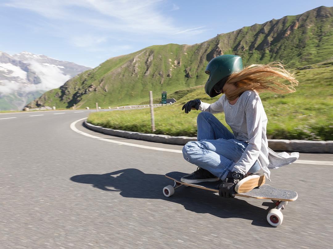 Emma @outsideone making the best out of Europe. @mattkienzle photo.  #longboardgirlscrew #womensupportingwomen #skatelikeagirl #emmadaigle
