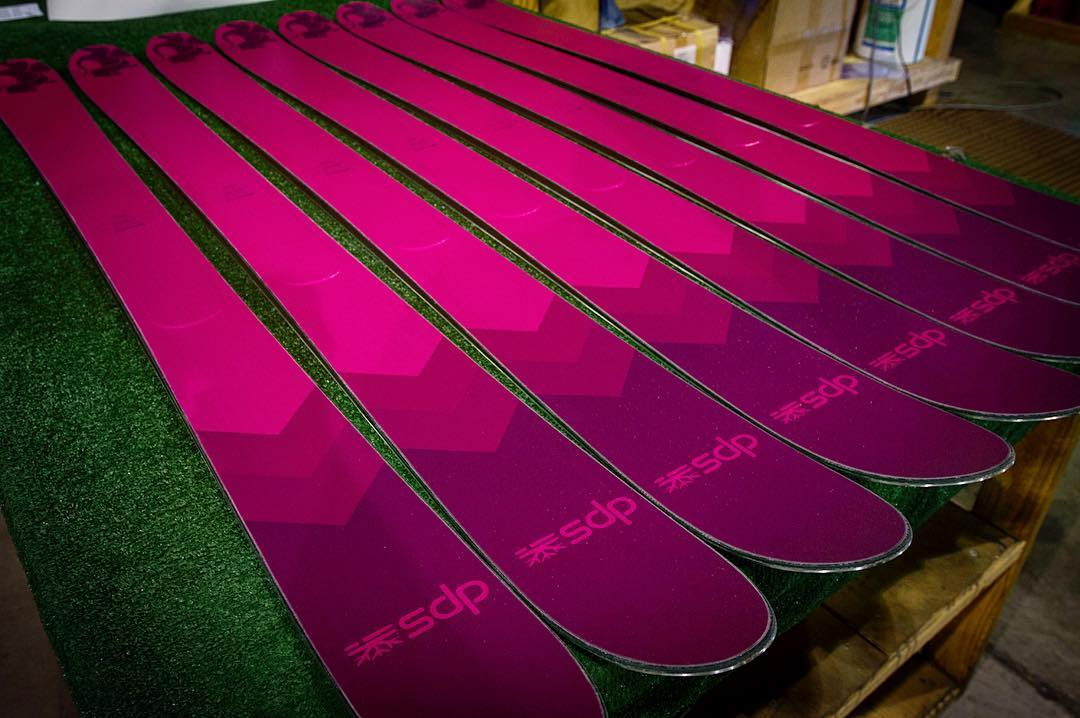 Inside the DPS Factory in Salt Lake City, the Zelda 106 Special Edition is queued in the long and detailed finishing process. The Zelda is as perfect a one-ski quiver for women as there is, and the Special Edition is available in limited quantities...