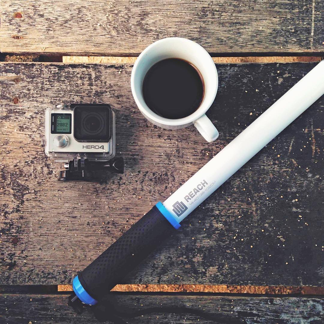 Monday morning essentials. Photo by @mankiphoto. GoPro HERO4 | GoPole Reach #gopro #gopole #gopolereach #coffee #☕️