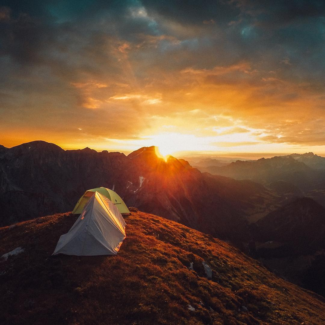 Photo of the Day! @kurib really earned this beautiful #AustrianSunrise. Hiking to the top overnight was well worth it! How are you starting your week? Share with us via link in our bio! #GoPro #GoProTravel #Roomwithaview #☀️
