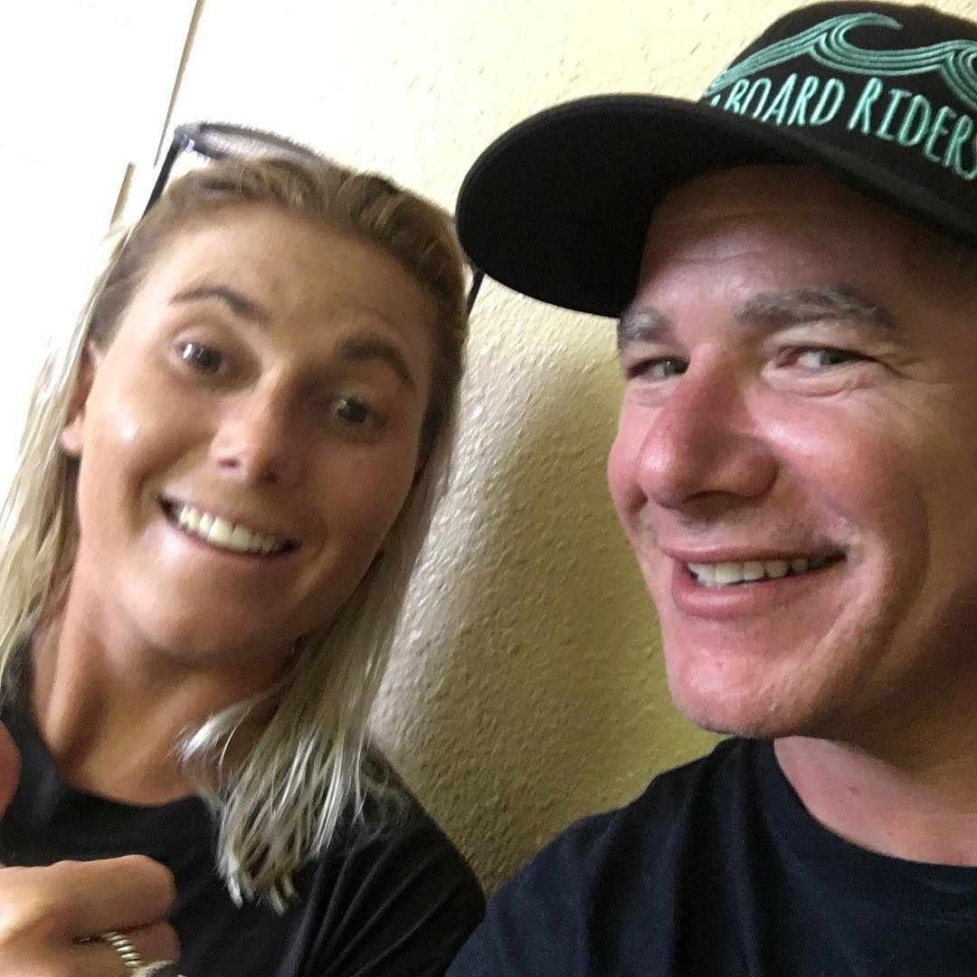 Dimity Stoyle and Matt Stone after a fun heat at the Supergirl Pro for their charity, Projects Save Our Surf  #bbr #bbrsurf #bbrsurfwear #buccaneerboardriders #psos #projectsaveoursurf #tannafrederick #henrydittman #dimitystoyle #brianvanholt...