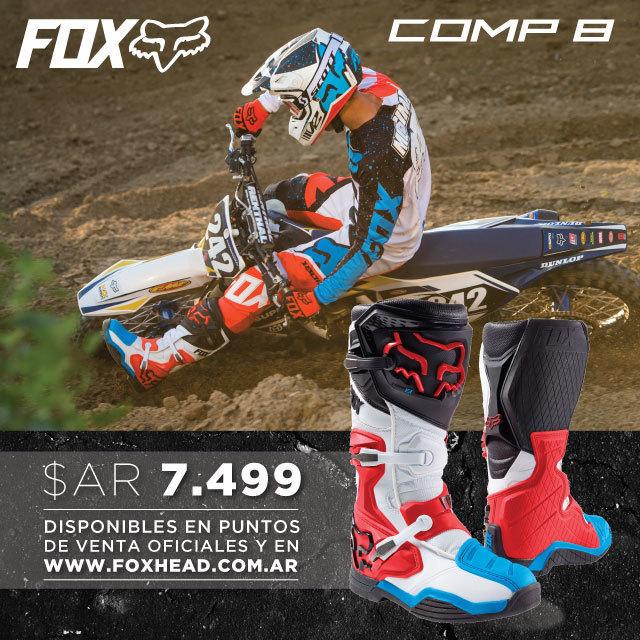 Adquirí tus nuevas botas Fox Comp 8 en Fox Head Argentina.  Las mejores botas al mejor precio: AR$ 7.499.- Disponibles en nuestros distribuidores oficiales de todo el país. Consultanos por un punto de venta en tu área!  También podes adquirir estos y...