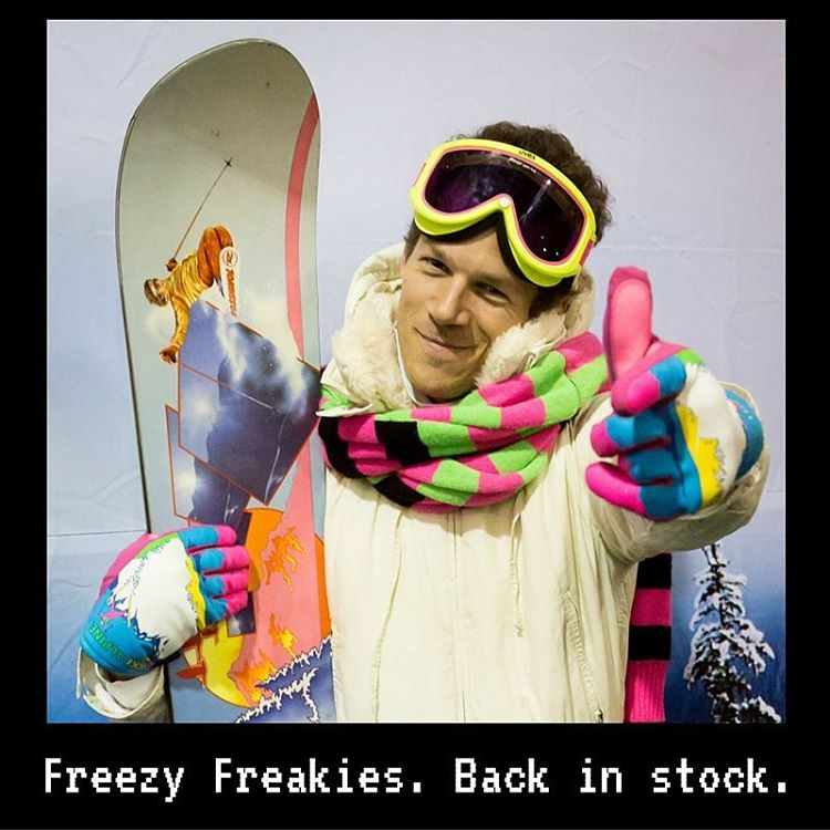 Freezy Freakies are back in stock. All designs and all sizes. Might as well grab 'em soon since we've got a nasty habit of selling out mid-winter. Did we also mention they're perfect for 100-degree late July days? #getfreezy