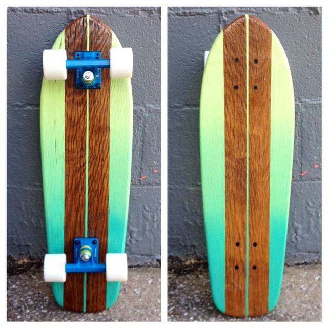 "Look at this beautiful fade with blue trucks! If you want a cruiser, this the time to pick one up! All cruisers on sale! Code:""CRUISER15"""