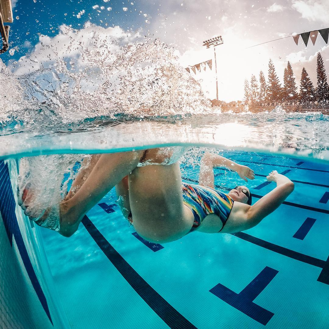 Years of training - ✅ Thousands of laps - ✅  @missyfranklin88 is ready for her time to shine. #GoPro #GoProGirl #Swim #Swimming #Pool #