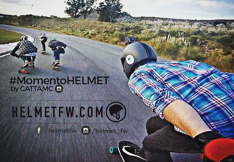 #MomentoHELMET by @cattamc #Helmetfw #Helmet #freestyle #ridefast #Longboard #Downhill #Extremo #Balcarce #Argentina
