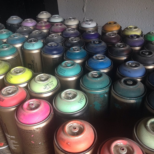 So many colors! Thanks @Montana_colors for some great paint