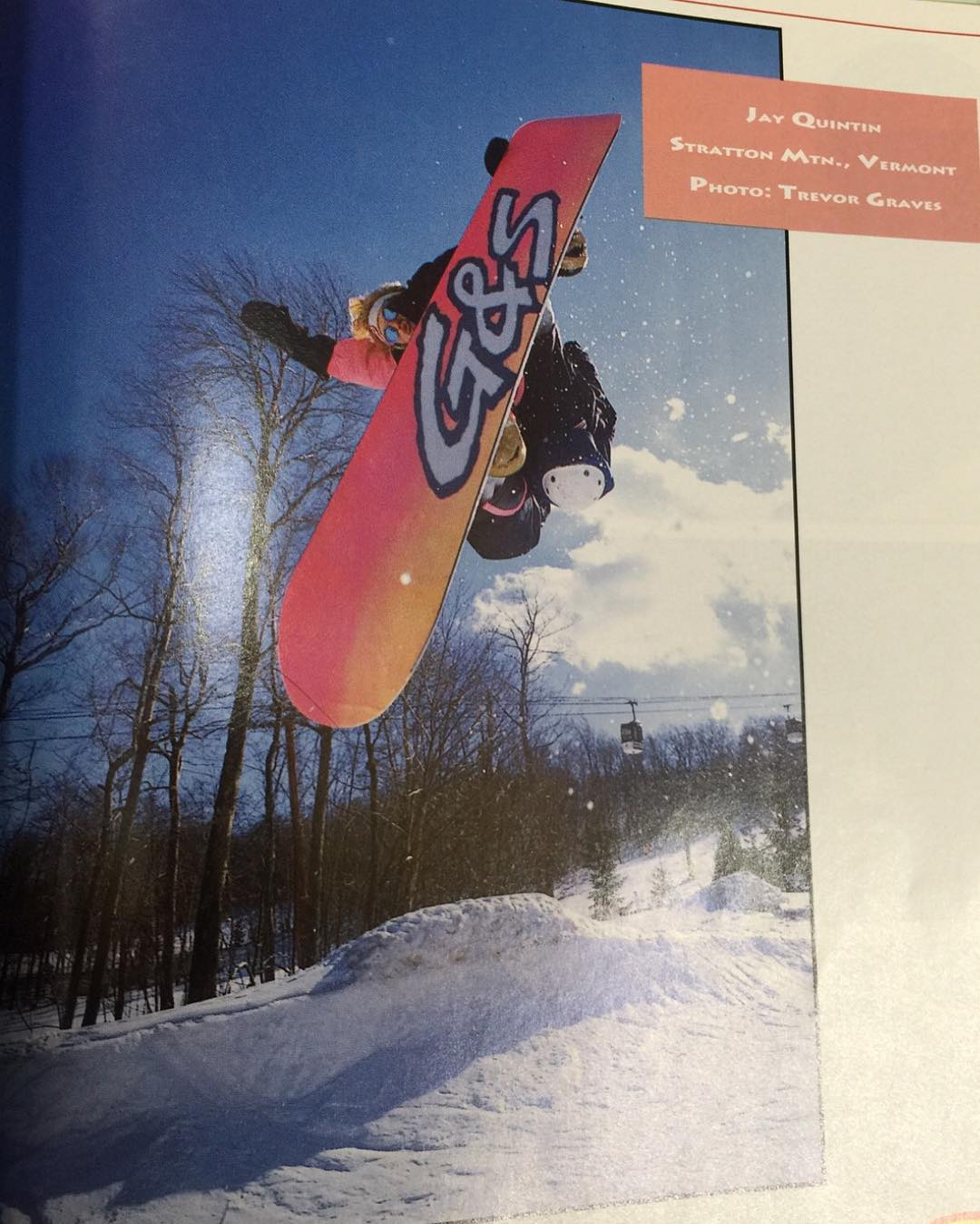 "Here's an old one of me in @twsnow from 1989 , the US open pipe has come a long ways from this one, they used to dig it with a backhoe and a talented driver. I called this trick a ""myAir"" , which never stuck, an akward way to do a tail grab ( backside..."