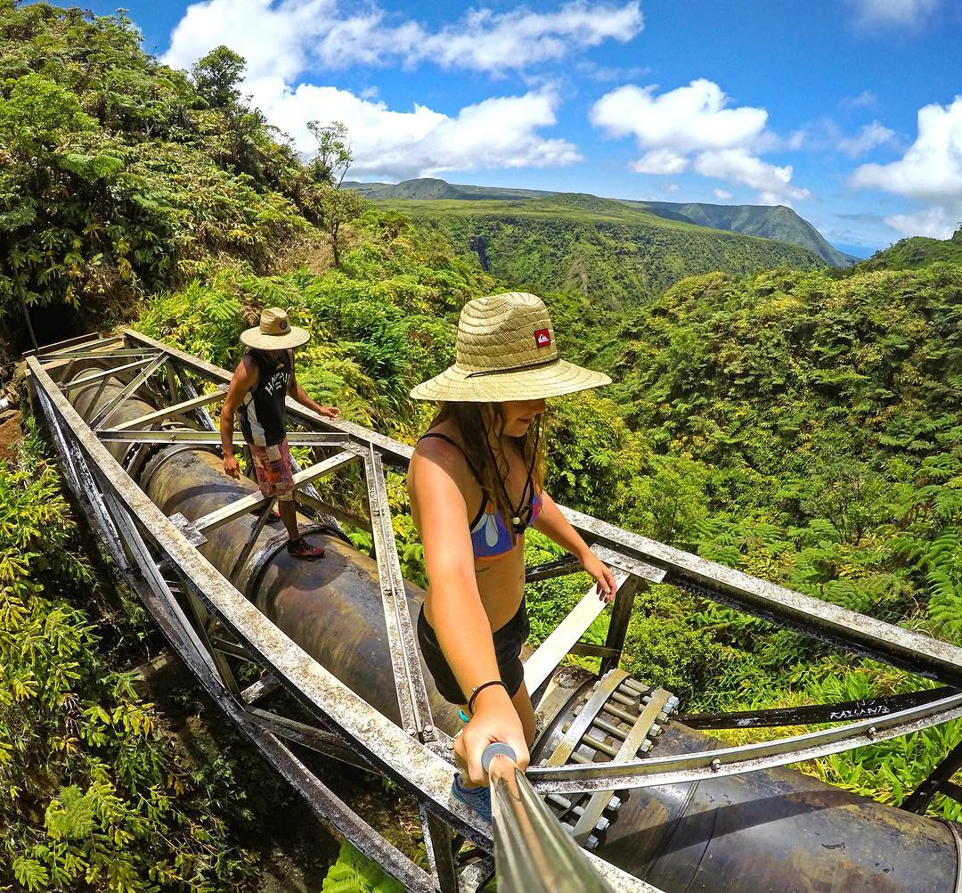 @rachelgreersmith exploring Hawaii's Big Island. Shot with GoPro HERO4 and GoPole Evo. #gopro #gopole #gopoleevo #hiking #hawaii
