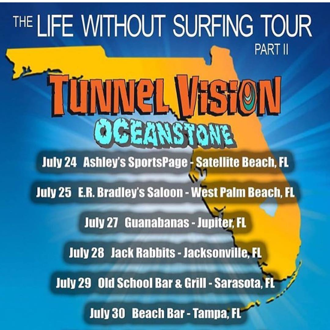 "@tunnelvisionsc and @oceanstonemusic are on their Florida tour ""Life Without Surfing"". Go check it out if you're local"
