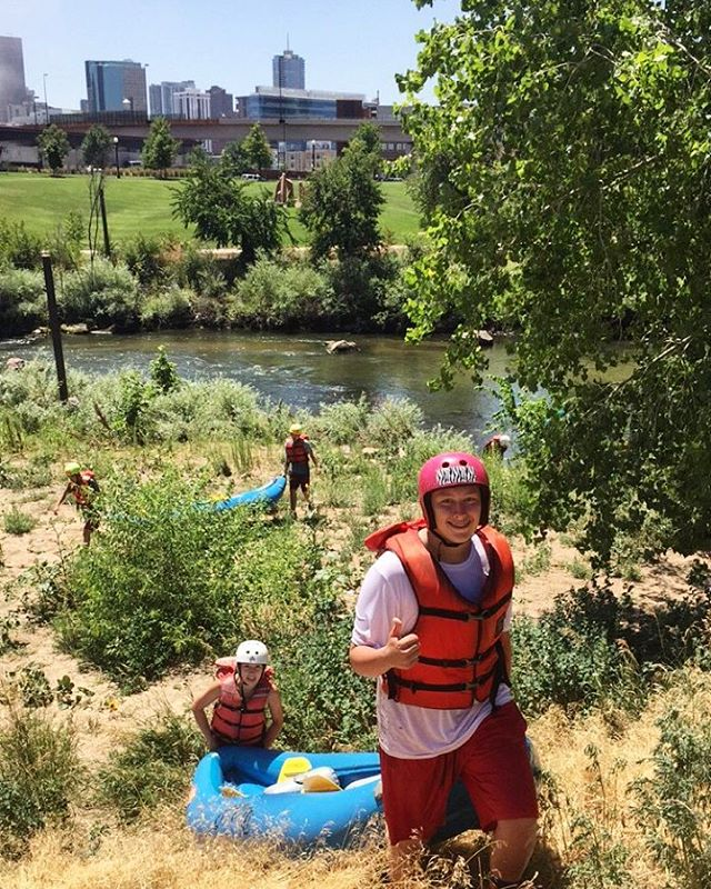 Great times rafting with @denver_citywild on the Front Range!