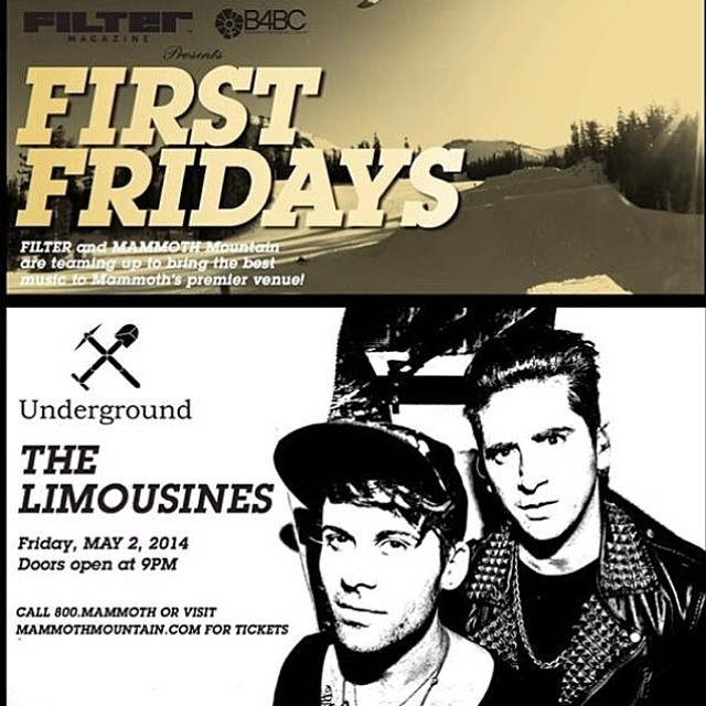 If you're at @mammothmountain this weekend, you should be at @undergroundmammoth right now for the very last @filtermagazine x B4BC First Friday feat @TheLimousines!! Come support B4BC and enjoy some rad jams tonight!
