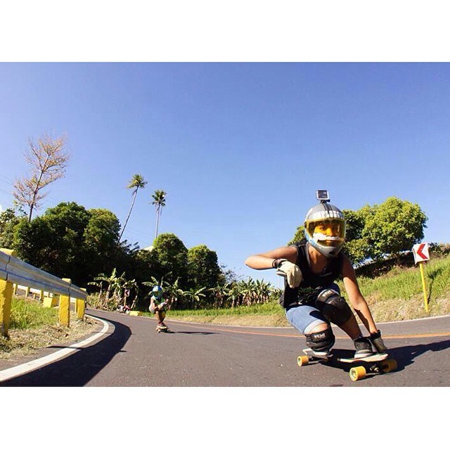 @magalyfbe going fast in #Philippines. DO EPIC SHIT photo. Now let's go #skate! #longboardgirlscrew #boardsandpalmtreedmakelife