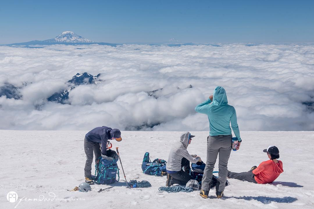 Rainier Series 2/5: our fearless leaders, the guides. A lot of work goes into managing the safety of climbers on the mountains, and that leadership for us could not have been better executed by our guide team. To Liz, Betsy, Kim, and Sarah: thank you...
