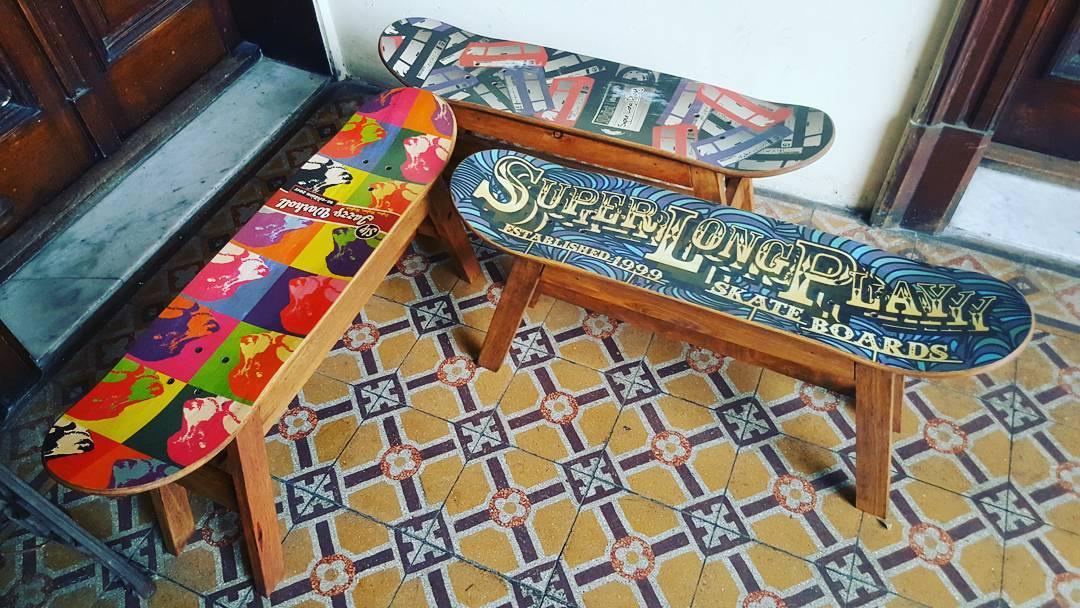 Qué bien quedaría uno de estos en tu casa..! #skatebancos están disponibles ahora