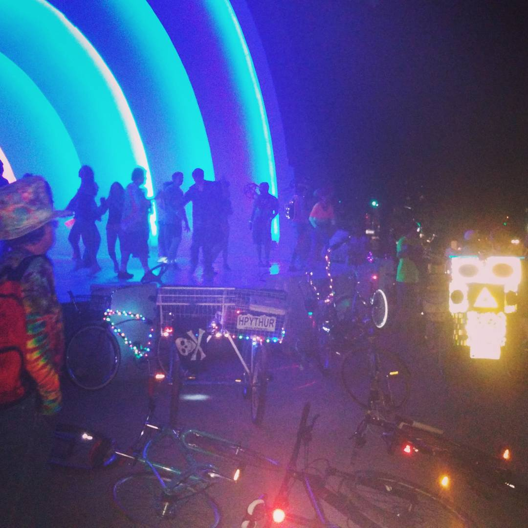 #bikeparty #cruiserride dance party always a good time when the GG #musictrike is rocking the tunes