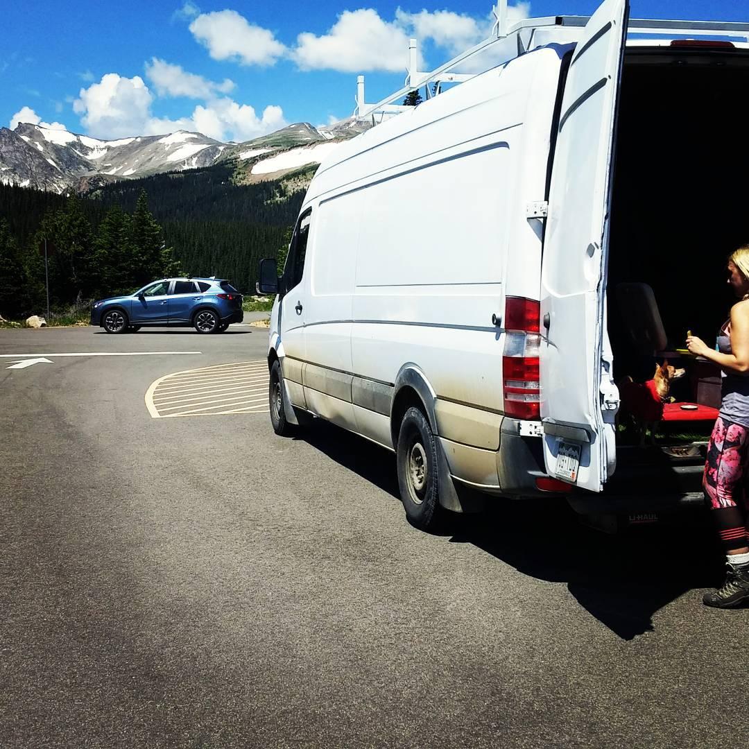 #home is where the #van parks #vanlife #colorado #sprintervan